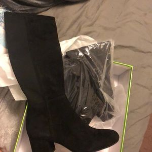 Sam Edelman Valda Black Suede knee high boots